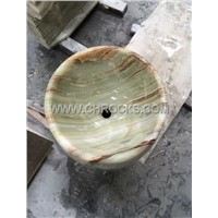 Green Onyx Pedestal Sink,Green Onyx Barrel Sink,Green Onyx Pedestal Wash Basin