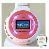 Wireless Headphone Bluetooth Headset with LCD screen ,MIC,FM,TF card MP3