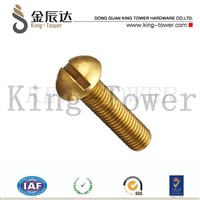 machine screw of brass slotted oval head for switch/power supply