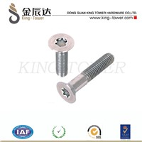 Machine Screw of 18-8 Flat Head, Drilled Spanner Drive Stainless Steel (with ISO card)