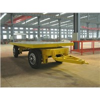 20ft 10T 4 axle lowboy flatbed towing utility full trailer