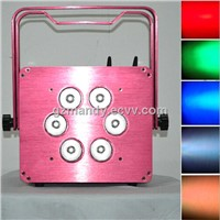 Pink / Purple Case LED 6bulbs*15W 6-in-1 RGBWA UV Battery Wifi Par Light Cell Phone Control(MD-C048)