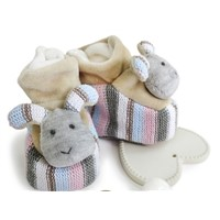 knit & velvet dog baby booties soft newborn stuffing baby shoes handmade