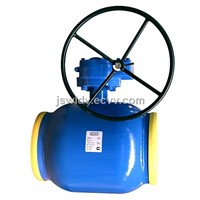 Ball valve-valve for heating pipeline-full welded ball valve with worm gearbox DN250