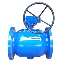 valve for heating pipeline-Full bore flange ball valve with worm gearbox DN200-DN250