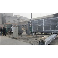 Continuously working wood charcoal carnbozation furnace