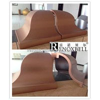 Copper Color Hyperbolic Curve Aluminum Panel for Decoration