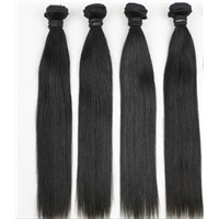 Sell Full Cuticle 6A best virgin human Brazilian hair extension weft straight free shipping