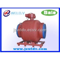 Ball valve-valve for heating pipeline-full welded ball valve with woem gearbox DN900