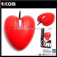 Computer heart shape mouse,optical heart mouse,Body Organ shape mouse--MO7009