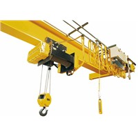Europe type single girder overhead crane with hoist