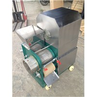 Fishbone and meat separating machine