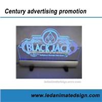 LED Animated Acrylic Advertising Sign for Indoor