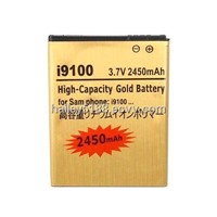 Gold High Capacity 2450mAh Replace Battery for Samsung Galaxy S2 S 2 S