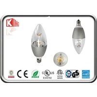3.5W COB 100lm/w LED candle light dimmable CE&ETL listed