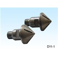 Diamond countersink for glass