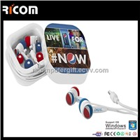 High quality Epoxy logo earphone,cute earphone with epoxy logo,micro earphone--EO3005B