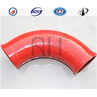 concrete boom pump casting bend pipe