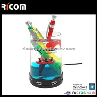 Liquid pen holder with usb hub,acrylic pen holder,usb gadget