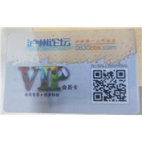 clear business plastic card full color pritning
