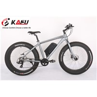 Alloy frame fat tire electric snow bicycle