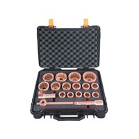 Non-Sparking Non-Magnetic Safety Tools Socket Set,18 Pcs 1