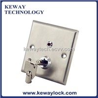 Stainless Steel Emergency Door Release Key Switch with LED