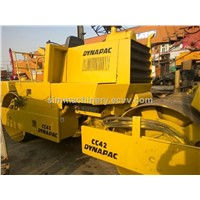 Used double drum Road roller Dynapac CC42 cc421 original sweden machine in shanghai