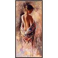hand painted figure art oil painting