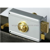 MAK,FORTE Rim Lock, Brass Door Lock Rim Latch (9001)