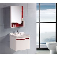 Modern bathroom cabinet with mirror OGF302