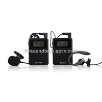 Wireless lavalier microphone PA system