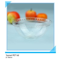 78mm clear PET dome lids for plastic cup