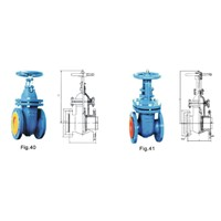 DIN cast wedge gate valve