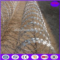 Hot Dipped Galvanized  Razor barbed wire with Four Handle Factory