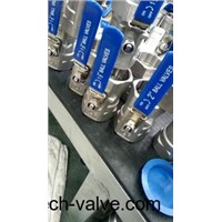 One piece ball valve(304.316)