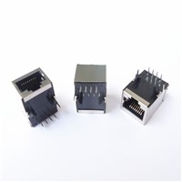 100Base-T RJ45 connector with transformer