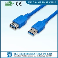 1M 3Ft Data Transfer USB 3.0 Extension Cable A Male to Female Blue
