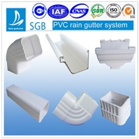 2015 New PVC rain gutter and downspout for drainage system