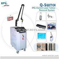 Professional q switched nd:yag laser tattoo removal machine