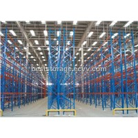L2700*D1000*H6000 blue orange color steel heavy duty pallet racking system