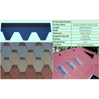 ISO9001:2009 Mosaic asphalt shingle for roof Building