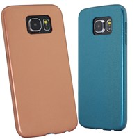 2015 hot sale metallic exterior leather case for s6