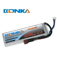6200mah 7.4V 2S 35C lipo battery for rc helicopter
