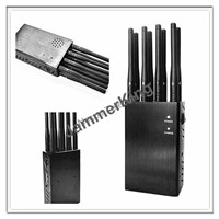 8 Bands Handheld Cellphone Signal Jammer, Signal Blocker/ Shield, 315/433MHz Jammer for Car