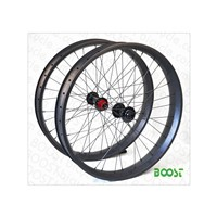 Carbon Fat Bike snow bike 26inch wheelset 80mm Width 25mm Depth Hookless Tubeless Compatible