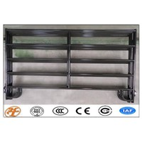 Top Cheap High Quanlity Galvanized Powder Coated Heavy Duty 6 Rails Used Metal Cattle Livestock Corral Panel for Canada