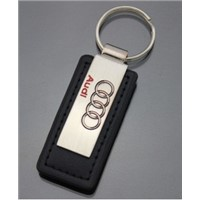 Leather Keychain with Car Logo Zinc Alloy Key Chain Metal Keyring