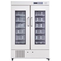 Side-by-side Door Style high quality blood bank refrigerator(660L)