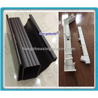 PVC roof rain gutter systems